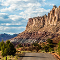 The drive has several marked stops along the route that mark points of interest.- Capitol Reef Scenic Drive