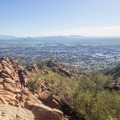 Great views from the Cholla Trail, Camelback Mountian.- Cholla Trail