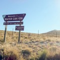 Entering Water Canyon Recreation Area.- Water Canyon Recreation Area