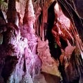 The lights cast interesting shadows and colors in the rooms of the cave.- Lehman Caves