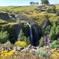 Ravine Falls in the spring.- Ravine + Phantom Falls, North Table Mountain Ecological Reserve