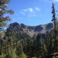 Entering the crater of Crater Peak.- Magee Peak