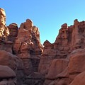 Surrounded by goblins in Goblin Valley State Park.- The Valley of the Goblins