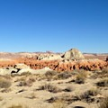 Exploring the arid canyon mesas.- The Valley of the Goblins