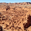 Southwest view from the same overlook toward Wild Horse Mesa.- The Valley of the Goblins