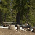 Campsite along Indigo Lake.- Indigo Lake Campground