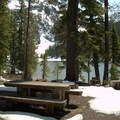 One of the five hike-in campsites located on Indigo Lake.- Indigo Lake Campground