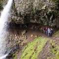 Hike it Baby group hitting the trail.- Horsetail, Ponytail + Triple Falls Hike