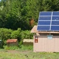 The bathrooms with solar power.- Sky Camp