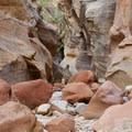 The canyon basin.- Clear Creek Hike