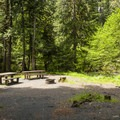 Double campsite at Riverside Campground.- Riverside Campground