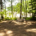 One of seven walk-in campsites at Southshore Campground.- Detroit Lake, Southshore Campground
