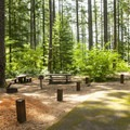Double campsite at Southshore Campground.- Detroit Lake, Southshore Campground