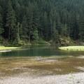 Greenwater Lake.- Greenwater + Echo Lakes