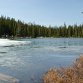 Blue waters of Indigo Lake.- Indigo Lake Campground
