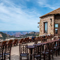 The two outside patios provide never-ending and ever-changing views of the canyon.- Grand Canyon Lodge, North Rim