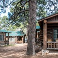 Spacious grounds surround the higher-end cabins.- Grand Canyon Lodge, North Rim
