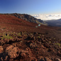 The colorful ancient lava flows.- Sliding Sands Trail: Haleakalā Visitor Center to Erosional Valley Floor