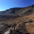 There are many unofficial boot paths off of the main trail that should not be used.- Sliding Sands Trail: Haleakalā Visitor Center to Erosional Valley Floor