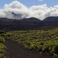 The Sliding Sands Trail continues east and connects with many other trails that cross the valley.- Sliding Sands Trail: Haleakalā Visitor Center to Erosional Valley Floor