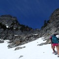 Stay right to follow the ridge to the northeast buttress.- Chair Peak