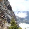 The pich that traverses the waterfall.- Chair Peak