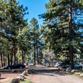 North Rim Campground has a spacious feel.- North Rim Campground