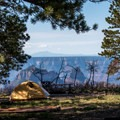 The hiker/biker sites have views that can't be beat.- North Rim Campground