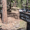 Trailhead parking is well marked.- Cape Final Trail