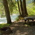 Campstie along the Middle Fork of the Willamette River.- Secret Campground