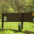 Secret Campground fee station.- Secret Campground