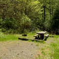 Typical campsite in Secret Campground.- Secret Campground
