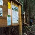 The Sperry Peak Trailhead.- Sperry Peak