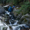 River crossing on the way to Sperry Peak.- Sperry Peak