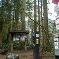 Westside trailhead within Olallie State Park.- Twin Falls Hike via West Trailhead
