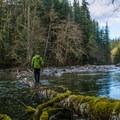 South Fork Snoqualmie River.- Twin Falls Hike via West Trailhead
