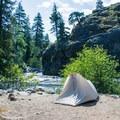 Tyical campsite at Bridge Creek Campground.- Bridge Creek Campground