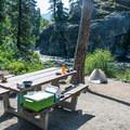 Typical site at Bridge Creek Campground.- Bridge Creek Campground