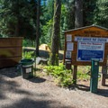 Sign at the entrance to Bridge Creek Campground.- Bridge Creek Campground