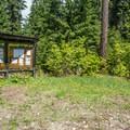 Registration station in Black Pine Horse Camp + Campground.- Black Pine Horse Camp + Campground