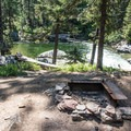 Typical campsite at Rock Island Campground.- Rock Island Campground