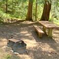 Campsite next to Indigo Springs Trailhead.- Indigo Springs Campground