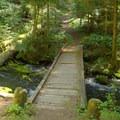 Wooden bridge crossing Indigo Springs. - Indigo Springs Campground