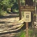 Road leading into Indigo Springs Campground.- Indigo Springs Campground