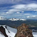 Looking across the north facing summit bowl.- Mount Bachelor: Spring Lap