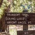 The Transept Trail connects the North Rim Campground with the Grand Canyon Lodge and Visitor Center.- Transept Trail