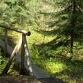 Footbridge along Vivian Lake Trail.- Vivian Lake