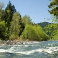 Secret Campground sits along the Middle Fork of the Willamette River.- Secret Campground