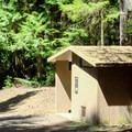 Vault toilet in Indigo Springs Campground. - Indigo Springs Campground