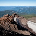 The view west toward the Willamette Foothills.- Diamond Peak, Marie + Rockpile Lakes